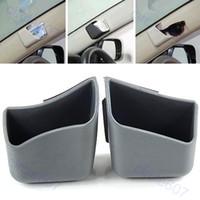 Gel 0 D4292-GY Free Shipping 2pcs Car Auto Truck Pillar Pocket Holder Storage Box Cigarette Cellphone Glasses GY -PY-PY