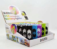 Wholesale Portable USB Electronic Rechargeable Battery Cigarette Flameless Lighter Power Battery Cigarette with display box smoking pipe
