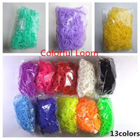 Wholesale 300pcs Rainbow Loom Bands Silicon More Than Colors Loom Bands for Chlidren DIY Loom Bracelets