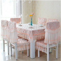 Wholesale Fashion classic Tablecloth High grade wallpaper Table Table cloth The chair Cushion Chair cover Suit Lace Fabric art Factory