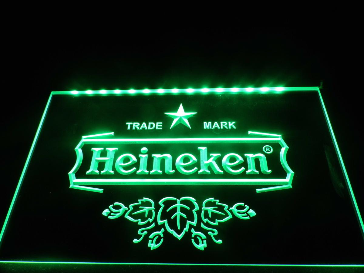 LE015b- Heineken Logo Beer Bar Neon Light Sign Online with ...