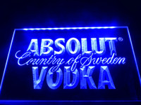 Wholesale LE025b Absolut Vodka Country of Sweden Beer Neon Bar Light Sign