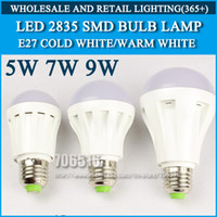 Wholesale 10pcs led bulb lamp High brightness lights E27 W W W SMD Cold white warm white AC220V V V