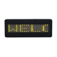 Wholesale 1pcs yellow LED Programmable Scrolling Name Message Badge Tag Digital Display English