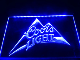 Wholesale LA004b Coors Light Beer Bar Pub Logo Neon Light Sign