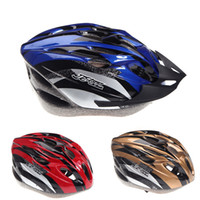 Wholesale 7 Colors NEW Vents Ultralight Outdoor Sports Cycling Helmet with Visor Mountain Road MTB Bike Bicycle Helmets Adult g H8322