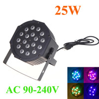 Wholesale AC V All color DMX DJ Bar Club KTV Party Disco Show RGB LED Stage Light PAR Lighting Strobe Channel W H10618