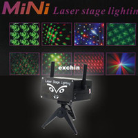 Wholesale Mini Holographic Laser Projector Stage Lighting Party w Remote Shapes