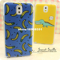 For Apple iPhone Metal note3 crocodile note3 banana banana s4.9 Free shipping.Samsung Note3.9008 banana phone shell casing slim Note2.7100 S4.9500 S3.9300