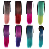 Wholesale 2014 High quality Colorful Hair Tail Ombre Ponytail Hair Extensions Clip in Ponytail Extensions