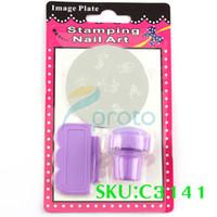 Decal 2D Metal Freeshipping-DIY Nail Art Stamping Set Stamping Nail Art Kit Nail Stamps + Scrapers+Image Plate Retails SKU:C3141XX