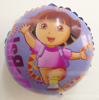 Wholesale Hot Selling New Arrival Dora Foil Balloon Cartoon Ballon Series Wedding Decoration Party Decoration Round Shape J0471