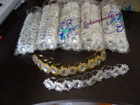 Wholesale 100 Napkin Rings Clear Stone Silver Round Rings