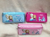 Fabric   Free Shipping! 12pcs Fashion 3 Colors High Quality Pencil Case, Kids Cartoon Pencil Pounch Pen Bag Cosmetic Bag