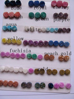 Wholesale 100pcs mm titanium quartz crystal agate gemstone cabochons assortment charm jewelry bead