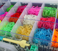 Wholesale Luxury Line Kids DIY Bands Mixed Color Rubber Loom Bands S clips Loom Bands Charm Loom Tool Loom Board ZD219 sets