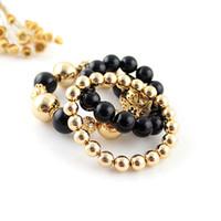 Charm Bracelets Celtic Women's Fashion Hot Selling Vintage Graceful Beads Stretch Elastic Bracelets for Women and Men 2014 Items Bijouterie