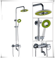 Fixed Support Type Yes 8 inch Factory supply Rain Shower Bathroom Set Sanitary Ware Bath Bathroom Shower Set Faucet Mixer Tap With ShowerFaucets3sets lot