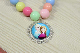 Wholesale Mixed design Frozen Princess Elsa Anna Children Baby Girl Party princess Jewelry necklace