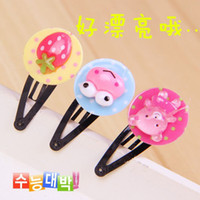Wholesale Cartoon Pattern Resin Hairpin Pet Accessory Hair Decoration bq