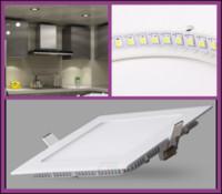 No 85-265V no 100Pcs lot 4W Led panel light AC85-265V Ultra thin design LED ceiling recessed grid round square panel light T002