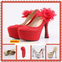 Wedding Stiletto Heel Round Toe Hot Sell Women Heels Waterproof Round Toe Prom Evening Party Dress shoes Lady Wedding Shoes for Bridal Shoes