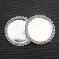 Wholesale New mm Sliver Flatback Bottle Chrome Linerless Blank Crown Caps for Pendant Alloy Charm Rhinestone Base Setting Cameo Cabochon