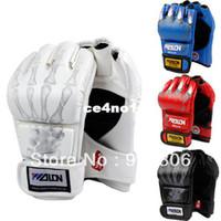 Wholesale Half Finger Boxing Gloves Sanda Fighting Sandbag Gloves Made of High Quality PU leather X27
