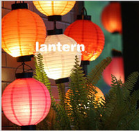 Ballon and Lantern   New Hanging LED Light Paper Lanterns DIY Craft For Christmas Ornament Wedding Party Decoration Supplies