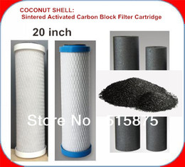 Wholesale 20 inch Coconut Shell Charcoal Activated Carbon Water Filter Cartridge With High Adsorption Improve Water Quality And Good Taste