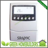 Wholesale Intelligent solar water heater controller SR609C for compact pressurized solar water heates with electric element