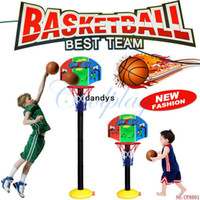 Wholesale CP8801 Hot Baby Toys Children Sports Basketball Toys Set Basketball Stands with Tie Pump Outdoor amp Indoor Toy d