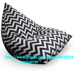 Wholesale NEW PATTERN OUTDOOR AND INDOOR Bean Bag chair cover bean bag cover COMFORT beanbag chair Zigzag CHEVRON