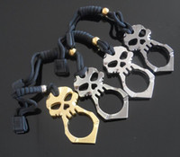Wholesale NEW Key rings EDC self defense emergence equitment D version skeleton evil style accessories