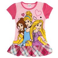 TuTu Summer A-Line Baby girl dress 2014 new printed cartoon princess dress for baby girls children clothes summer party evening dress H4986