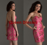 Model Pictures Satin Crew 2014 Hot pink Short Homecoming Graduation Dresses Sexy Backless Crew Neck Sequins Sleeveless Sheath Corset Mini Prom Dresses