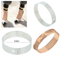 Trendy Alloy Christmas Day 30% off Fashion Punk Rock Mirror Metal Anklet Ankle Foot Cuff Bracelet Bangle Ring Gold [B631*10]