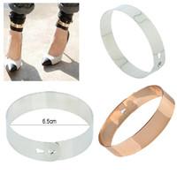 El 30% del oro del anillo del brazalete de la pulsera del pun ¢ o del pie del tobillo de la pulsera del tobillo de la manera del punk rock de la manera [B631 * 10]