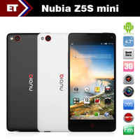 WCDMA Quad Core Android In stock ZTE Nubia Z5S Mini Quad Core phones 4.7 inch 1280x720 Snapdragon 600 1.7GHz 2GB RAM 16GB 13.0MP Camera Dual SIM