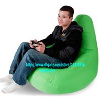 Fabric bean bags offers - Adults size GAMER BEANBAG XXL limited offer OUTDOOR bean bag chair Drop beanbag sofa cover Green