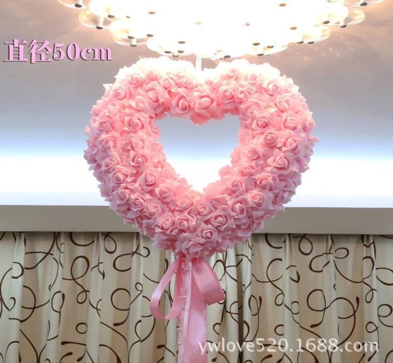 wedding decorations rose flower heart