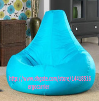 Wholesale Adults size GAMER BEANBAG XXL limited offer OUTDOOR bean bag chair Pearl beanbag sofa seat sky blue