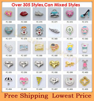 Charms Slides, Sliders Mixed Style Hot Sale 100pcs lot Over 400 Style Can Mixed Different Designs Fashion Alloy Floating Charms For Glass Living Lockets