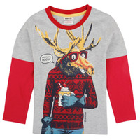 Wholesale A4991Y new hot fashion nova kids brand baby boys children clothing cotton spring long t shirt for baby boys