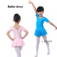 Wholesale Girls dance dress for performance children short sleeve dancewear summer ballet dress Leotard clothing
