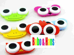 Wholesale new cute cartoon animals eyes contact lenses box amp case lens Companion box