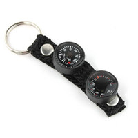 Wholesale New Mini in Lensatic Compass Thermometer Keychain