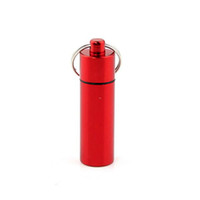 Wholesale New Pill Box Case Bottle Drug Holder Keychain Aluminum