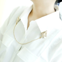 unique jewelry - New Arrival Fashion Jewelry Gold Color Chain Unique Individual Luxury Punk Style Hand Collar Clips Alloy Necklace