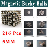 Wholesale New Shock Toys Magnet Magnetic Bucky Balls Buckyballs Sphere Cube Puzzle Kids Educational Toys Freeshipping